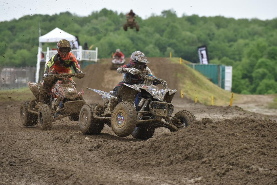 Thomas Brown had John Natalie on his rear tires as he fought for third in the first moto.