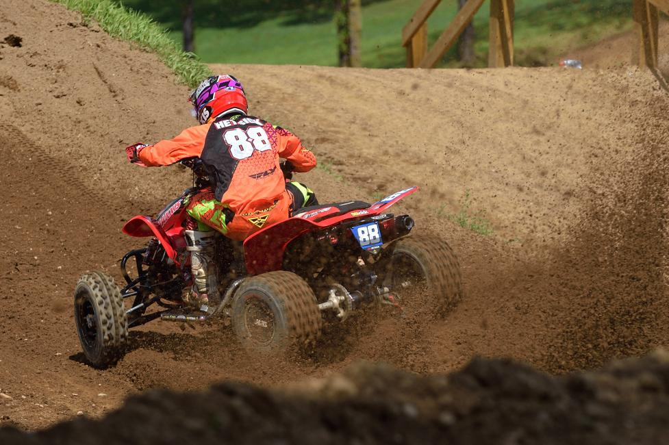With 2-1 moto finishes on the day at RedBud, Joel Hetrick took the overall win.Photo: Ken Hill