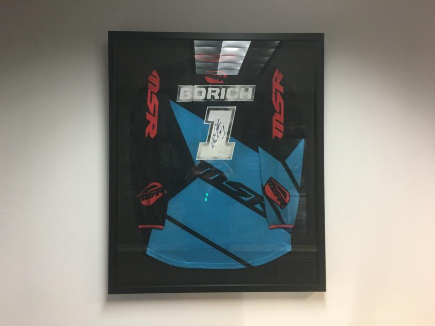 They've even got the 6x GNCC Champ's jersey hanging on the wall!