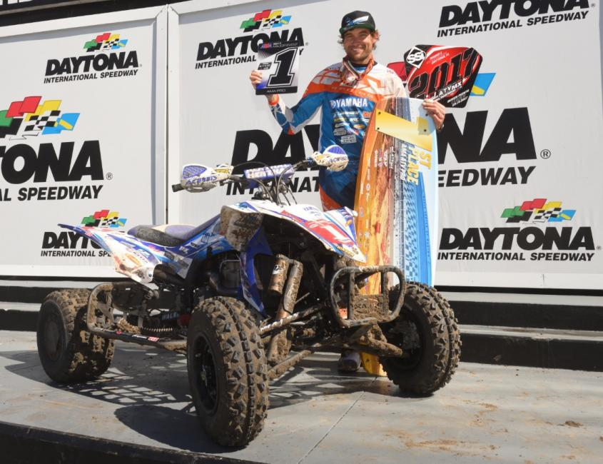 Chad Wienen started his year off strong with an overall win at the FLY Racing ATV Supercross.