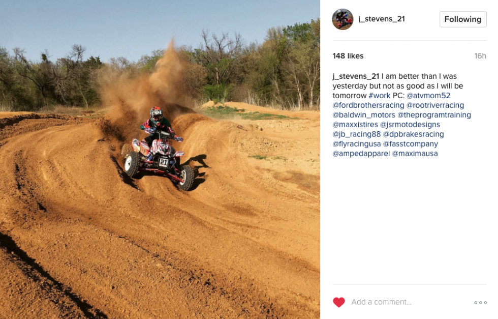 Jacob Stevens preparing for Underground MX.