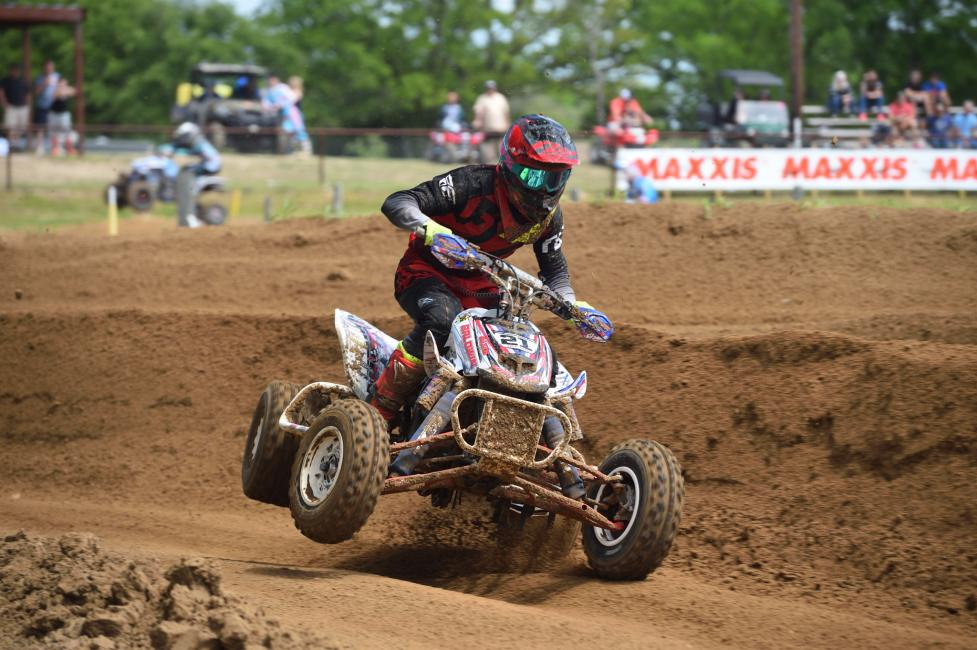 Coming in hot to this weekend's ATVMX race at Monster Mountain MX...