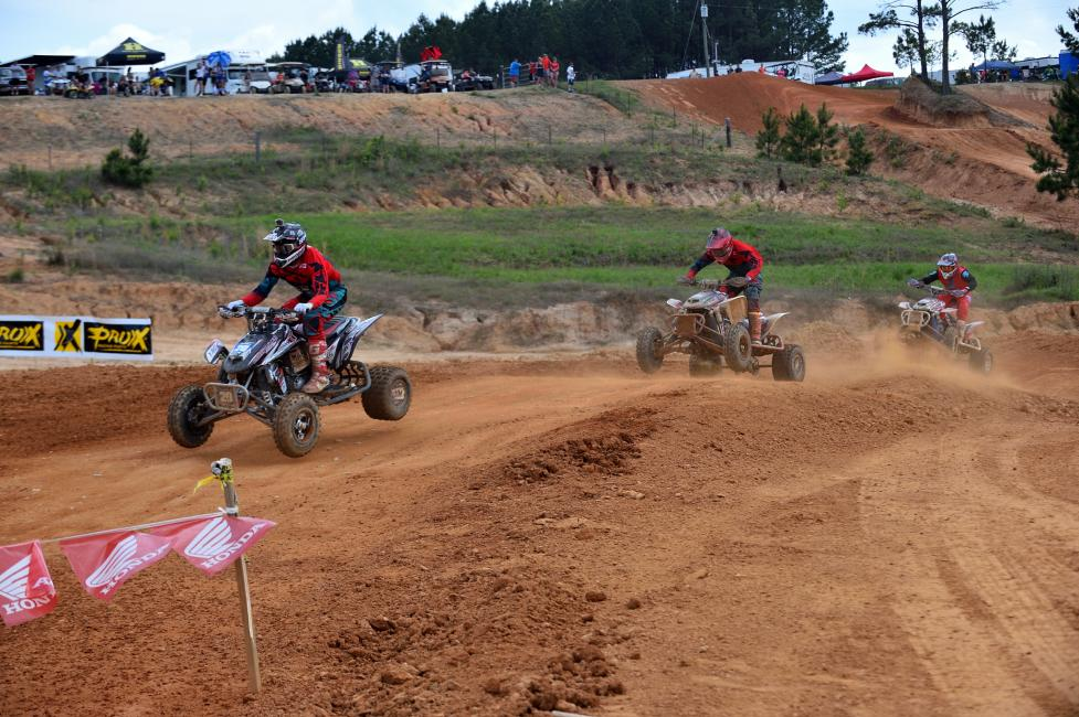 Josh Upperman, Jeffrey Rastrelli and Ronnie Higgerson were all within seconds of each other in Moto One.