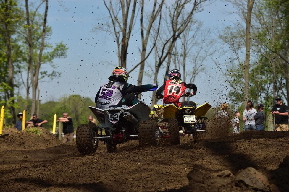Cody Ford had some great battles at the Ironman ATVMX National.