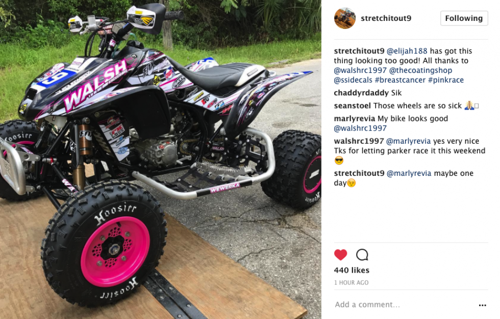 Parker Wewerka is getting ready for this weekends breast cancer awareness race at Sunset Ridge.