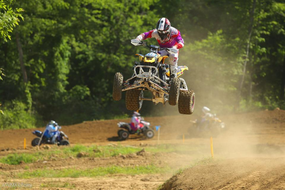 Jeffrey Rastrelli finished second overall in the Pro-Am class at Briarcliff MX