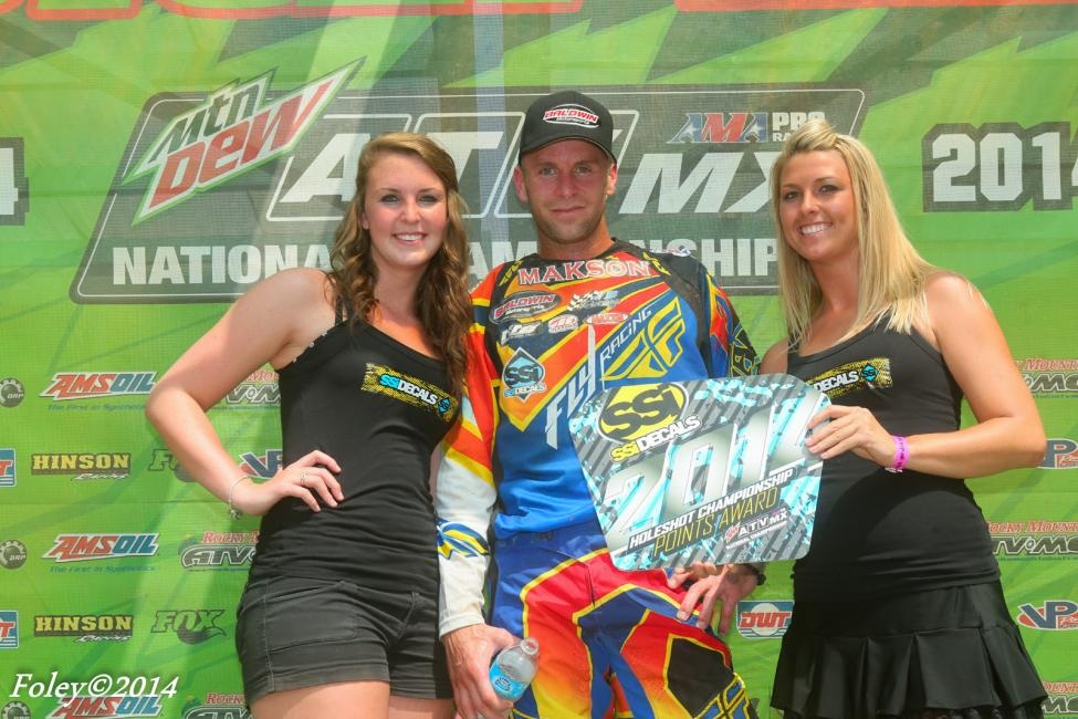 Upperman received the SSi Decals Holeshot Championship Award at Spring Creek