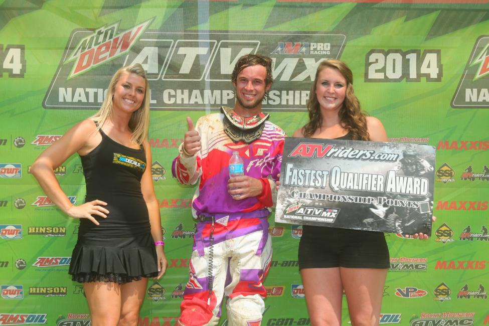 Jeffrey Rastrelli received the ATVriders.com Fastest Qualifier Award at Spring Creek