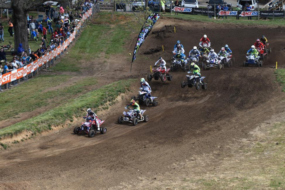 John Natalie pulled the holeshot in the second moto.Photo: Ken Hill
