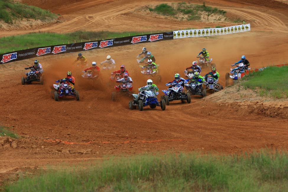 Brett Musick grabbed his first holeshot of the season in moto one.Photo: David Smith | Raceday Pix