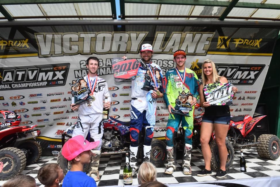 Overall Podium: (2) Joel Hetrick, (1) Chad Wienen, (3) David Haagsma.Photo: Ken Hill