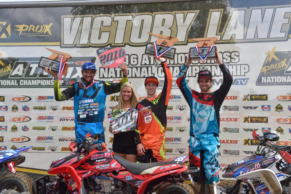 Overall Podium: (2) Chad Wienen, (1) Joel Hetrick, (3) Jeffrey Rastrelli.Photo: Ken Hill