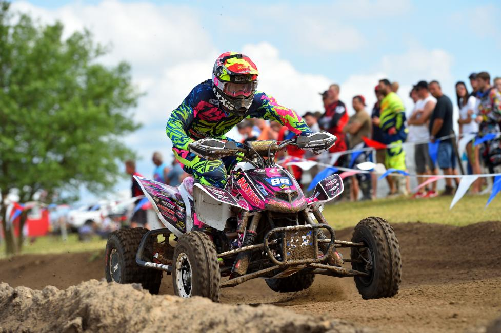 Joel Hetrick took the moto one win, but a second place in moto two earned him second overall.