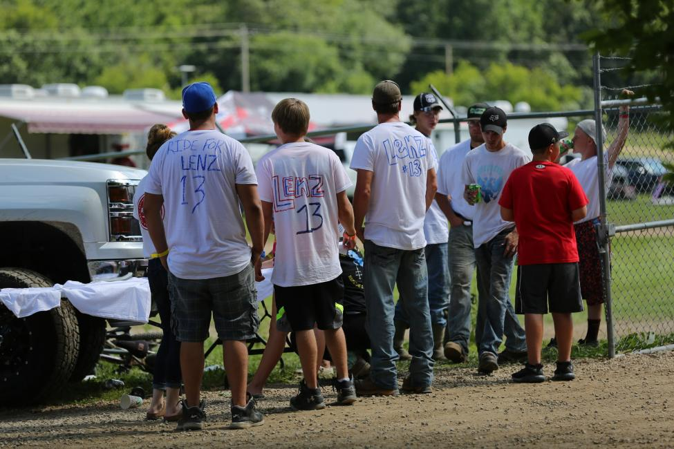 The ATVMX Racing Nation showed their support for Kyler Lenz. Godspeed, Kyler.