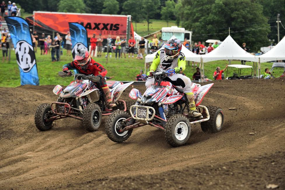 Jeffrey Rastrelli and Ronnie Higgerson put on a show for the New York fans where they were wheel-to-wheel for the final podium position in the first moto.
