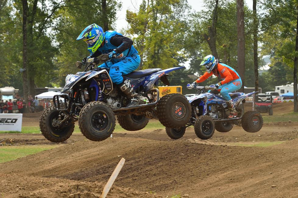 Joel Hetrick ran a clear track, but Chad Wienen and Thomas Brown were wheel-to-wheel for the first half of Moto 1.