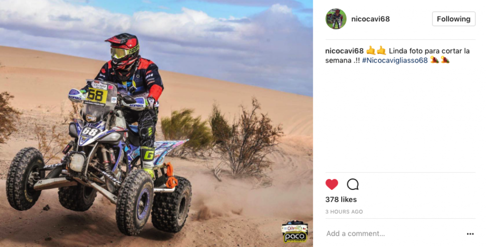 Nico Cavi was out getting some desert racing in!