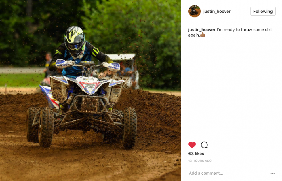 Justin Hoover seems to be getting the itch to race again!