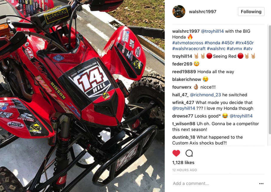 Will Troy Hill be riding red in 2018?