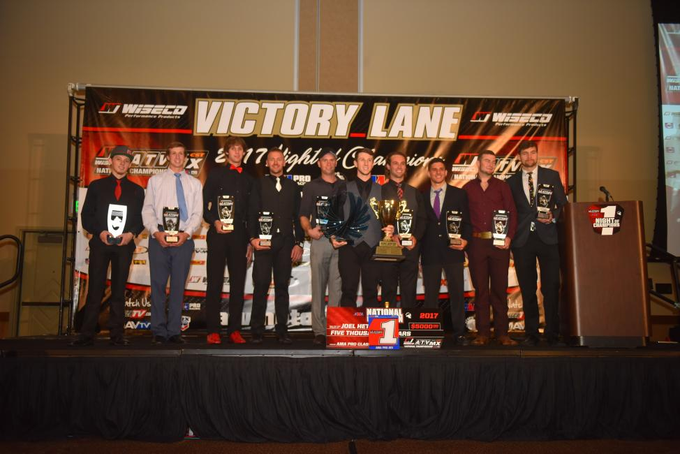 The 2017 AMA Pro ATV class top 10 finishers were all in attendance at the awards celebration this past weekend in Sandusky, Ohio.