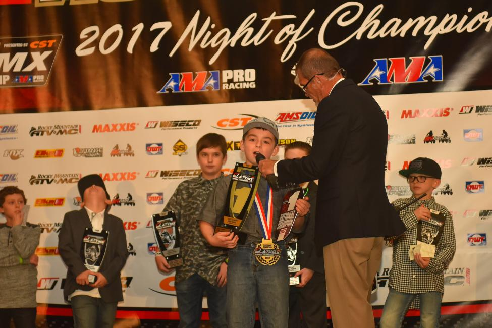 The youth ATVMX racers are always a blast to have up on stage.