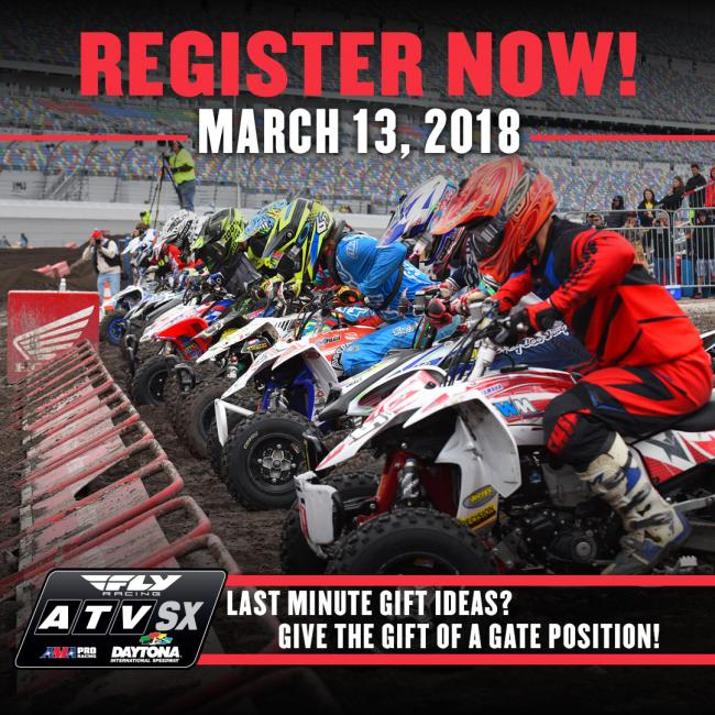 Need a last minute gift?! We've got you covered! Register your rider for the FLY Racing ATV Supercross at DIS HERE.