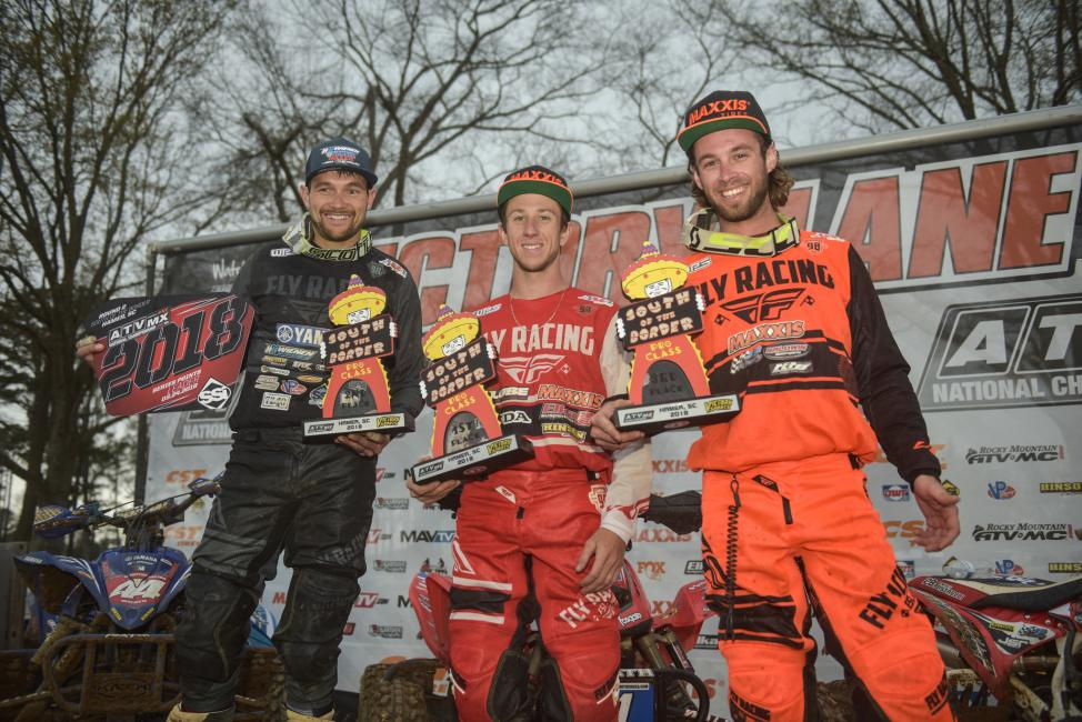 Joel Hetrick (center), Chad Wienen (left) and Jeffrey Rastrelli (right) rounded out the overall podium.