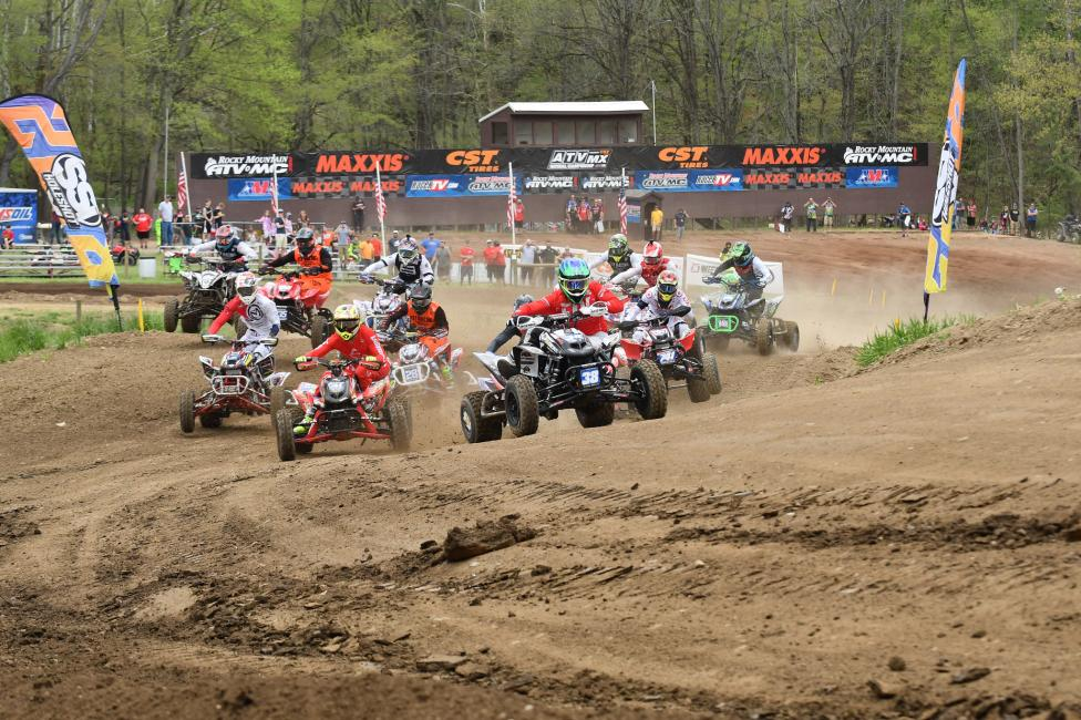 Sam Rowe earned his first ATVMX Pro holeshot in Indiana.