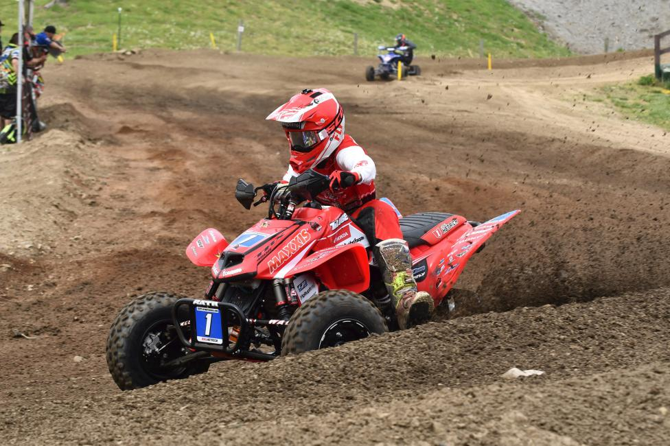 Joel Hetrick went 1-1 on the day at the Ironman ATVMX National.