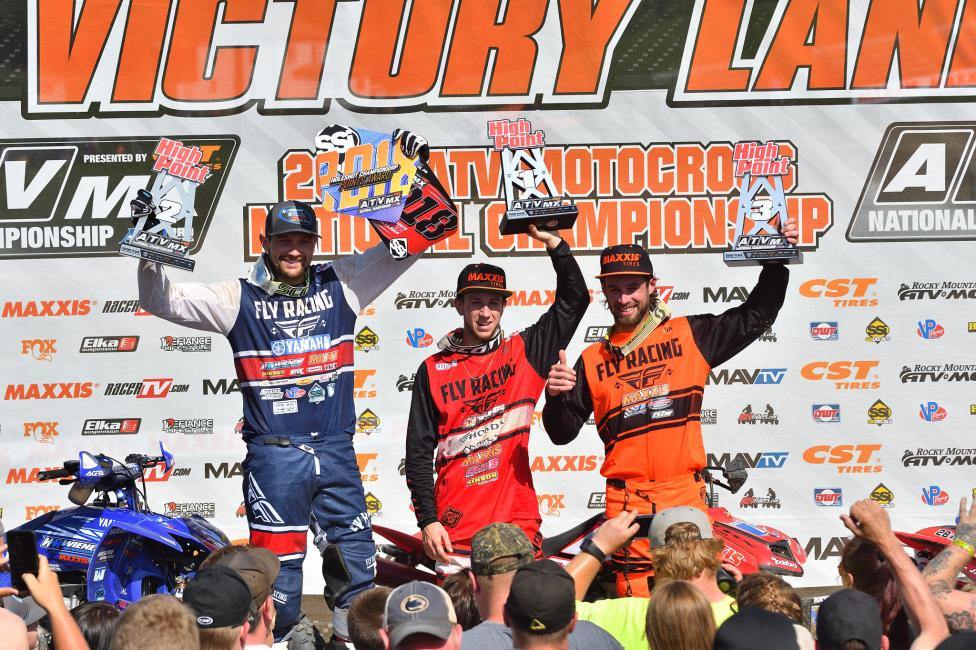 Joel Hetrick (center), Chad Wienen (left) and Jeffrey Rastrelli (right) rounded out the overall podium at High Point Raceway.