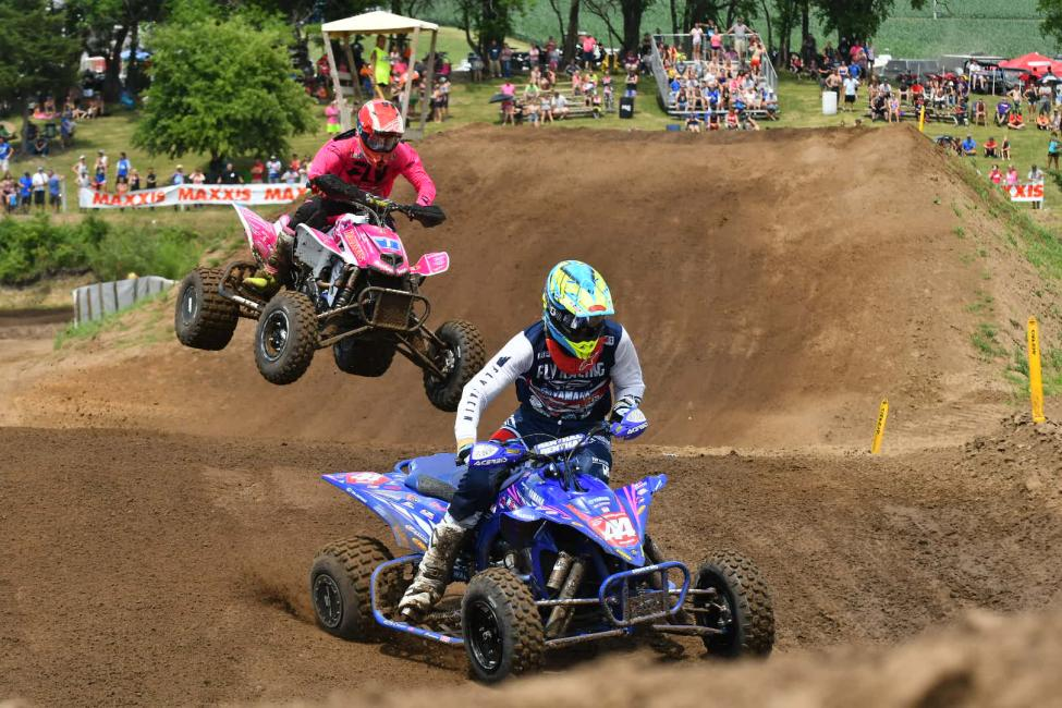 Wienen and Hetrick were once again battling at the front of the pack all day in Illinois.