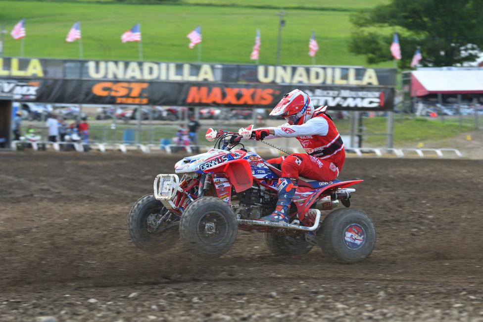 Nick Gennusa will be looking to earn his first overall podium finish at RedBud after a third in moto two at Unadilla.