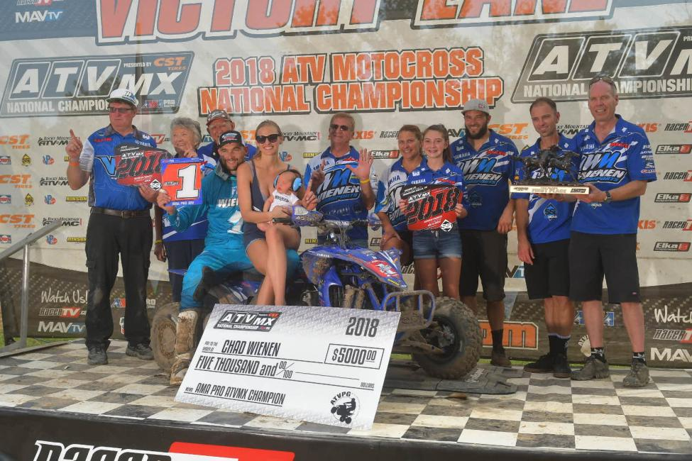 Wienen earned his sixth ATV Motocross National Championship.