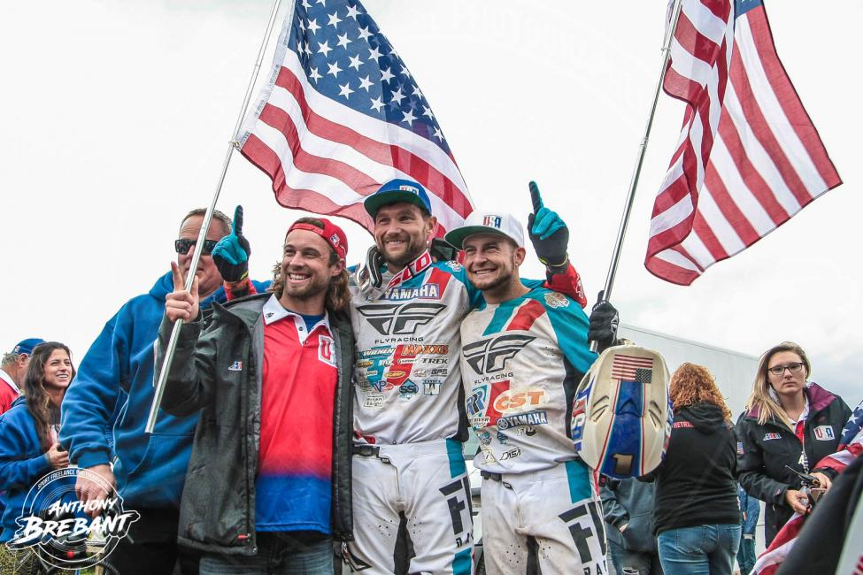 Chad Wienen (center), Jeffrey Rastrelli (left) and Thomas Brown (right) made up Team USA at the 2018 QXoN in Denmark.