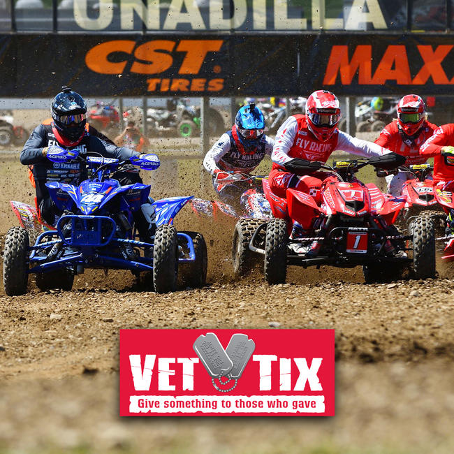 The 2019 ATV Motocross National Championship Series will be partnering with Vet Tix inviting active duty military and veterans to the races.