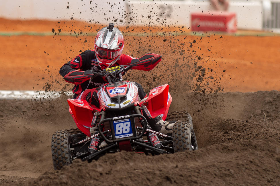 Joel Hetrick took the Daytona ATV Supercross win on Tuesday, March 12.