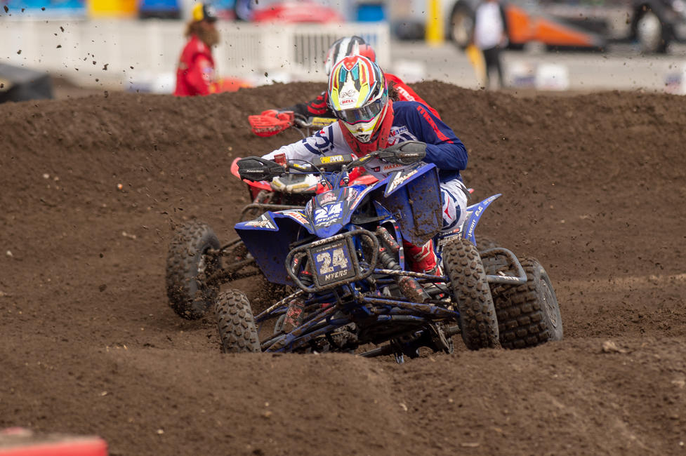 Alan Myers came through sixth overall in his first AMA Pro ATV race.