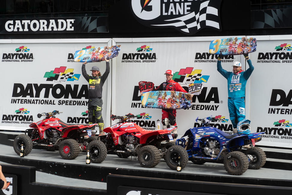 Joel Hetrick (center), Jeffrey Rastrelli (left) and Chad Wienen (right) rounded out the top three overall.