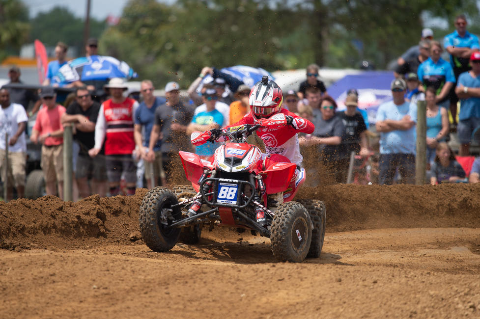 Joel Hetrick took the overall win in South Carolina, after earning both moto wins.