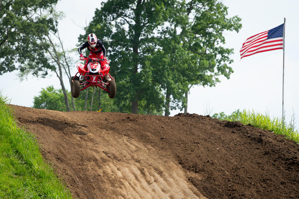 Phoenix Racing Honda/Maxxis/Elka's Joel Hetrick earned the Muddy Creek ATVMX National overall win.