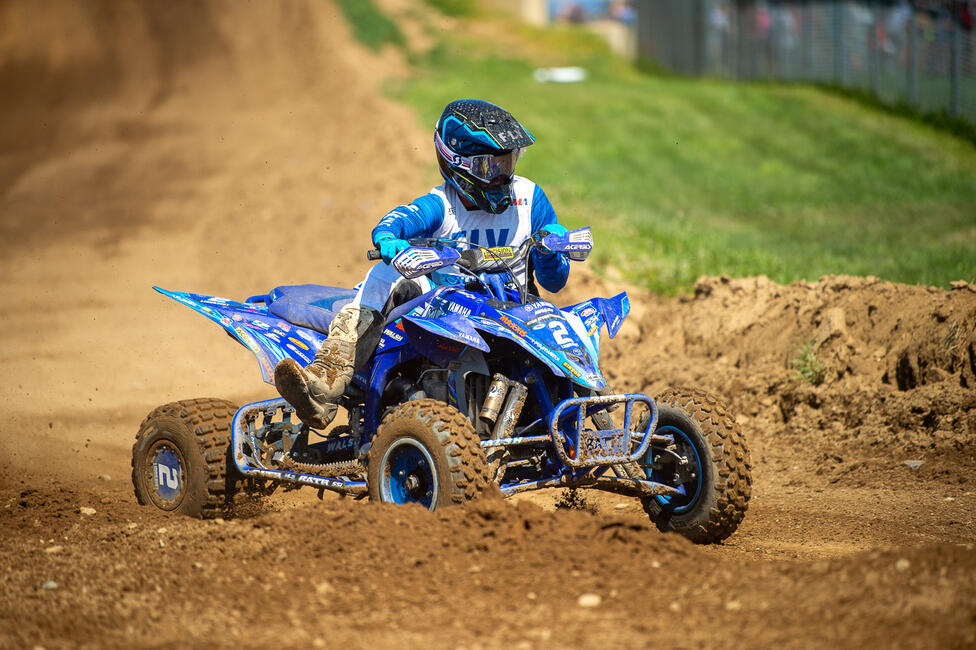 Max Lindquist earned his first-ever AMA Pro overall podium finish. Photo: Ken Hill